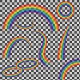 被设置的彩虹 免版税库存照片
