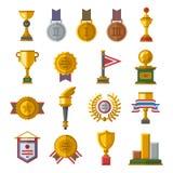 被设置的战利品和奖象 向量例证