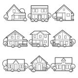 被设置的房子图标 免版税图库摄影