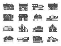 被设置的房子图标 库存照片
