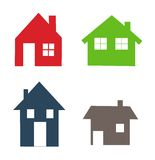 被设置的房子图标 免版税库存图片