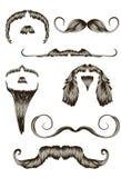 被设置的拉长的现有量髭 库存照片
