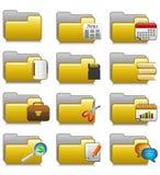 被设置的文件夹-办公室应用文件夹20 免版税库存照片