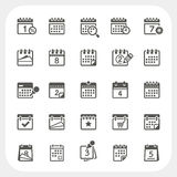 被设置的日历图标 库存图片
