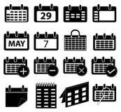 被设置的日历象 免版税库存照片