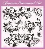 被设置的日本传统装饰品 皇族释放例证