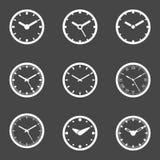 被设置的时钟象-传染媒介例证 免版税库存照片