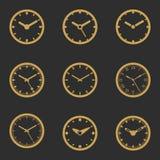 被设置的时钟象-传染媒介例证 免版税图库摄影