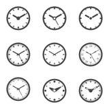 被设置的时钟象-被隔绝的传染媒介例证 免版税库存图片