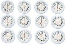 被设置的时钟 免版税库存图片
