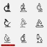 被设置的显微镜象 免版税库存照片