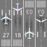 被设置的机场跑道 免版税库存照片