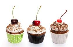 被设置的杯形蛋糕 免版税库存图片