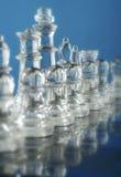 被设置的棋玻璃部分 免版税库存照片