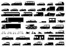 被设置的汽车图标 线性样式 也corel凹道例证向量 向量例证