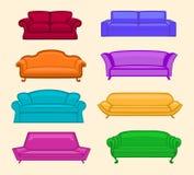 被设置的沙发 免版税库存图片