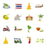 被设置的泰国象 库存图片