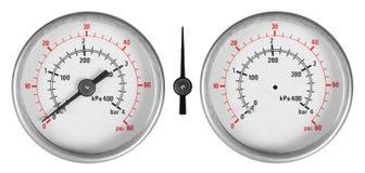 被设置的测压器 免版税库存照片