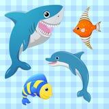 被设置的海水鱼 8条eps鱼查出的向量 动画片逗人喜爱的字符 手凹道例证 库存例证