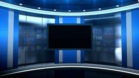 被设置的演播室条纹 股票视频