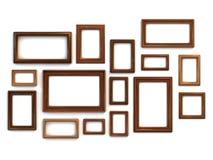 被设置的照片或绘画框架 向量例证