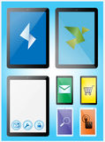 被设置的片剂和智能手机 免版税库存图片