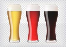 被设置的现实啤酒杯 皇族释放例证