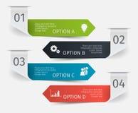 被设置的现代五颜六色的infographic箭头 介绍的,图,图表模板 图库摄影