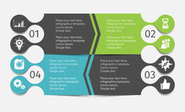 被设置的现代infographic线 介绍的,图,图表模板 图库摄影
