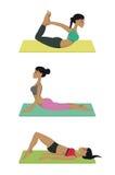 被设置的瑜伽姿势 库存照片