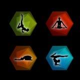 被设置的瑜伽pilates 图库摄影