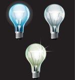 被设置的电灯泡 免版税库存图片