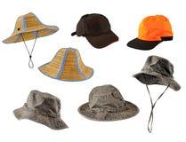 被设置的盖帽帽子 免版税库存图片