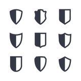 被设置的盾框架简单的象 免版税库存图片