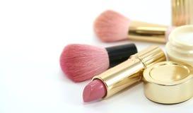 被设置的秀丽化妆用品 库存图片