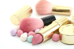 被设置的秀丽化妆用品 免版税库存图片