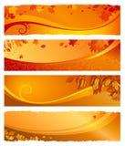 被设置的秋天横幅 免版税库存图片