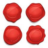 被设置的红色蜡质量封条 库存例证