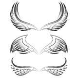 被设置的纹章学翼 向量例证