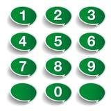 被设置的编号 10个背景设计eps技术向量 免版税库存照片