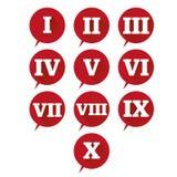 被设置的编号 传染媒介平的设计罗马数字 免版税库存照片