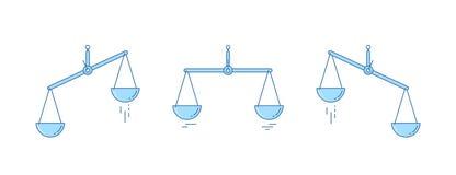 被设置的缩放比例 碗在平衡的标度,标度不平衡状态  也corel凹道例证向量 设计线路 向量例证