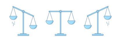 被设置的缩放比例 碗在平衡的标度,标度不平衡状态  也corel凹道例证向量 设计线路 皇族释放例证