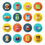 被设置的罐子物品 库存例证