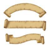 被设置的羊皮纸丝带 皇族释放例证