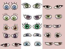 被设置的美丽的眼睛 库存图片