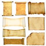 被设置的老羊皮纸 皇族释放例证