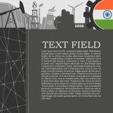 被设置的能量和力量象 小册子设计 免版税图库摄影