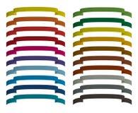 被设置的色的丝带 免版税库存图片
