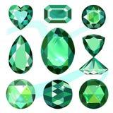 被设置的色的宝石 免版税库存照片